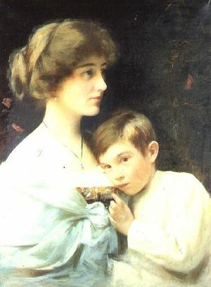 A Portrait of Marian Harford and Her Son Stuart