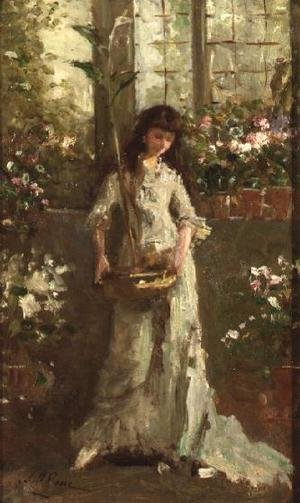 Girl in a Conservatory