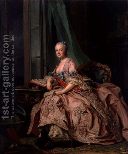 Anastasia Ivanovna, Countess of Hessen-Homberg, Princess Trubetskoy, 1757 by Alexander Roslin - Reproduction Oil Painting