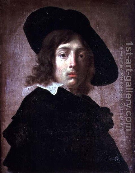 Self Portrait, c.1650 by Alessandro Rosi - Reproduction Oil Painting