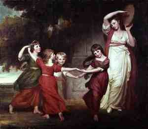 Rococo painting reproductions: The Gower Family
