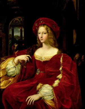 Mannerism painting reproductions: Portrait of Jeanne of Aragon c.1500-77 wife of Ascannio Colonna, Viceroy of Naples, 1518