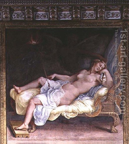 The Dream of Hecuba by Giulio Romano (Orbetto) - Reproduction Oil Painting