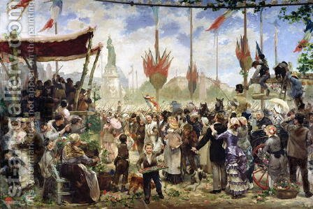The 14th July 1880, 1882 by Alfred Roll - Reproduction Oil Painting