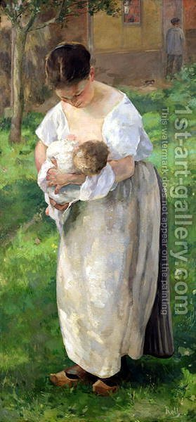 The Wet Nurse by Alfred Roll - Reproduction Oil Painting