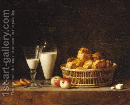 The Small Collation, or The Carafe of Orgeat, 1787 by Henri Roland de la Porte - Reproduction Oil Painting