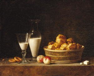 Famous paintings of Dairy & Milk: The Small Collation, or The Carafe of Orgeat, 1787