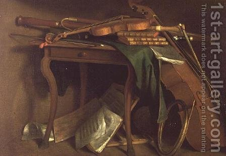 The Musicians Table, c.1760 by Henri Roland de la Porte - Reproduction Oil Painting