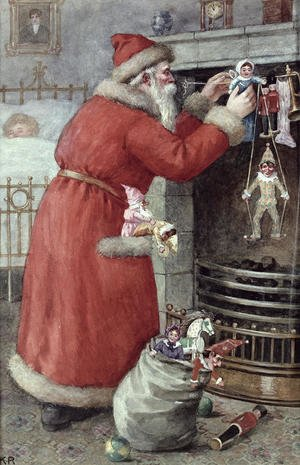 Romanticism painting reproductions: Father Christmas