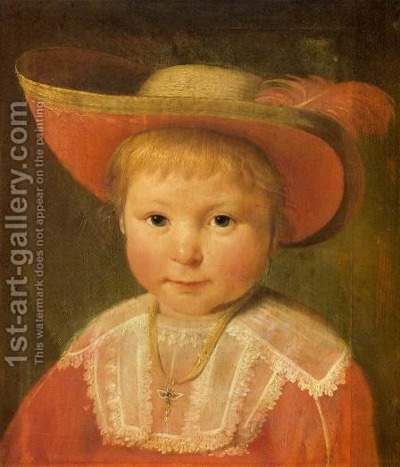 Portrait of a Child by Jacob Gerritsz. Cuyp - Reproduction Oil Painting