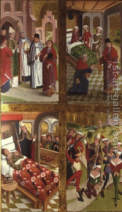 Scenes from the Life of St. Nicholas from the Inner Section of the Left Exterior Wing of the Former Main Altar in St. Nicholass Church, 1481 by Hermen Rode - Reproduction Oil Painting