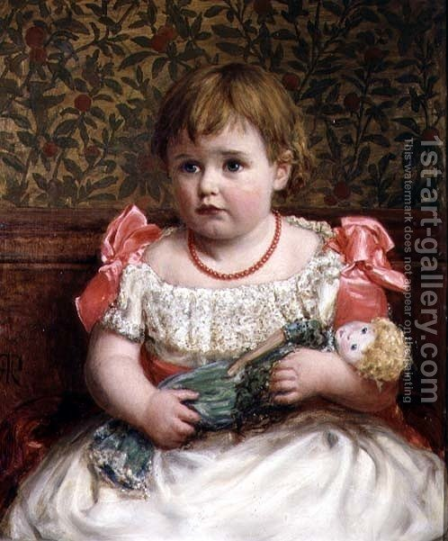 Huge version of Portrait of a Little Girl with Her Doll