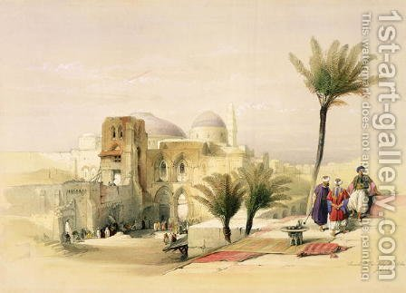 Church of the Holy Sepulchre, Jerusalem, plate 11 from Volume I of The Holy Land, engraved by Louis Haghe 1806-85 pub. 1842 by David Roberts - Reproduction Oil Painting
