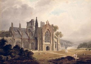 Melrose Abbey, Roxburghshire