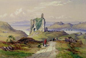 Reproduction oil paintings - Thomas Miles Richardson - Tarbert Castle, Loch Fyne