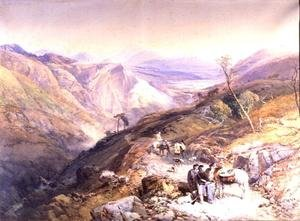 Glenshee from the Devils Elbow, Aberdeenshire, looking towards the Spital, 1853