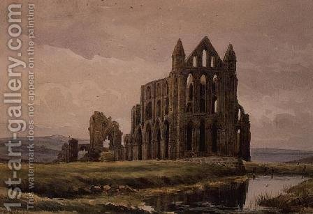 Whitby Abbey by Alfred William Rich - Reproduction Oil Painting