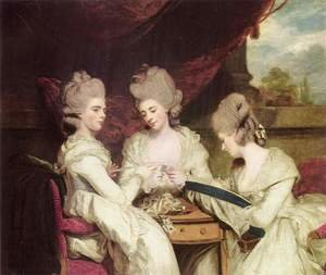 Reproduction oil paintings - Sir Joshua Reynolds - The Ladies Waldegrave, 1780