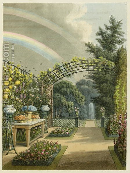 Sunshine after Rain, from Fragments on the Theory and Practice of Landscape Gardening, pub. 1816 by Humphry Repton - Reproduction Oil Painting