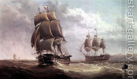 Shipping Scene by Henry Redmore - Reproduction Oil Painting