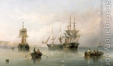 Shipping in a Calm, 1867 by Henry Redmore - Reproduction Oil Painting