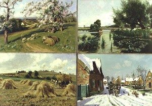 Realism painting reproductions: The Four Seasons