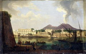 Famous paintings of Volcanoes: The Bay of Naples, seen from Chiaja