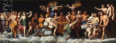 The Banquet of the Gods by (after) Raphael (Raffaello Sanzio of Urbino) - Reproduction Oil Painting