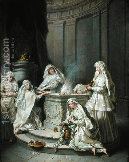 Jean Raoux: Vestal Virgins, 1727 - reproduction oil painting