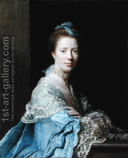 Portrait of Jean Abercromby, Mrs Morison of Haddo by Allan Ramsay - Reproduction Oil Painting