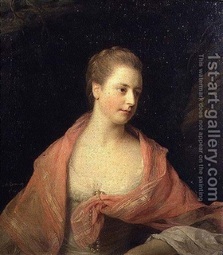 Portrait of Marie, second daughter of Sir Robert Walpole and wife of James, Earl Waldegrave by Allan Ramsay - Reproduction Oil Painting