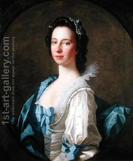 Portrait of Susanna Campbell, 1749 by Allan Ramsay - Reproduction Oil Painting