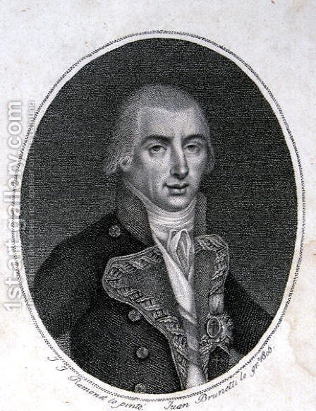 Federico Carlos Gravina, engraved by Juan Brunetti by (after) Ramonet, Jose - Reproduction Oil Painting