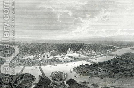 St.Petersburg, engraved by S.Bradshaw, c.1860 by (after) Ramage, J - Reproduction Oil Painting