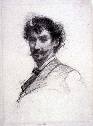 Paul Adolphe Rajon reproductions - Portrait of James Abbott McNeill Whistler 1834-1903