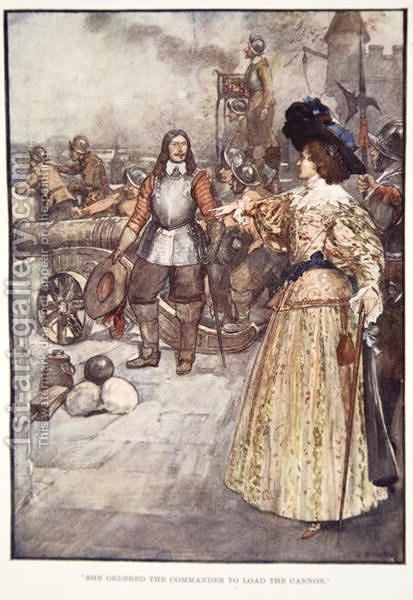 She Ordered the Commander to Load the Cannon, from The Story of France, by Mary MacGregor, 1920 by (after) Rainey, William - Reproduction Oil Painting