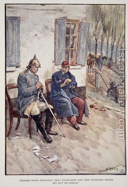 Chairs were brought that Napoleon and the Minister might sit out of doors', from The Story of France Told to Boys and Girls by Mary Macgregor, 1920 by (after) Rainey, William - Reproduction Oil Painting
