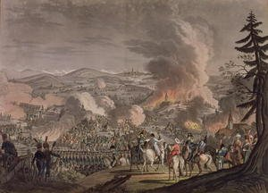 Academic Classicism painting reproductions: The Battle of Austerlitz, December 2nd 1805