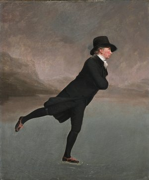 Romanticism painting reproductions: The Reverend Robert Walker skating on Duddingston Loch, 1795