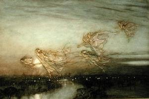 Famous paintings of Fairies: Twilight Dreams, 1913