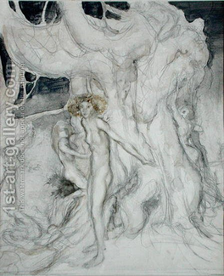 Arthur Rackham: Wood Nymphs - reproduction oil painting