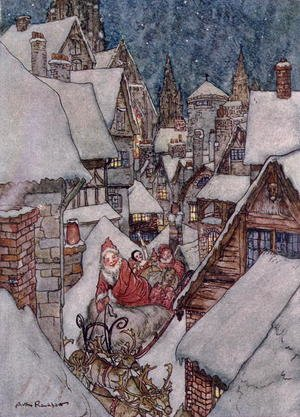 Famous paintings of Christmas: Christmas illustrations, from The Night Before Christmas by Clement C. Moore, 1931 2