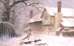 William W. Quatremain reproductions - Returning Home in the Snow, 1892