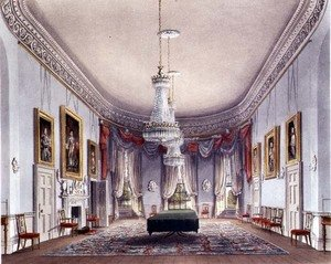 The Dining Room, Frogmore from Pynes Royal Residences, 1818