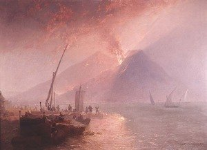 Famous paintings of Volcanoes: Eruption of Mt.Vesuvius, 1856