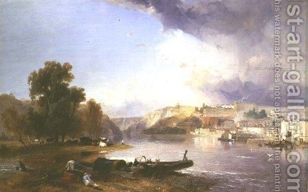 James Baker Pyne: Clifton from Ashton Meadows, 1836 - reproduction oil painting