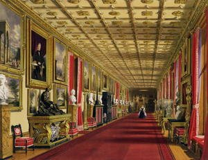 Famous paintings of Paintings of paintings: South Corridor, Windsor Castle, 1838