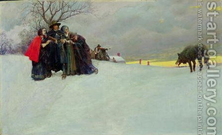 A Wolf Had Not Been Seen in Salem for Thirty Years, 1909 by Howard Pyle - Reproduction Oil Painting