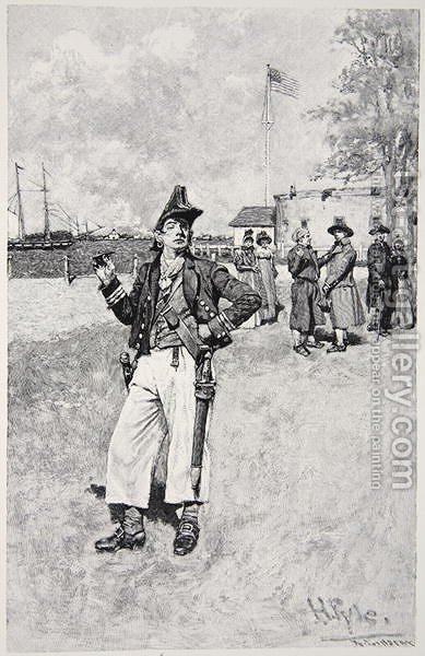 A Privateersman ashore, published in 1810 by Howard Pyle - Reproduction Oil Painting