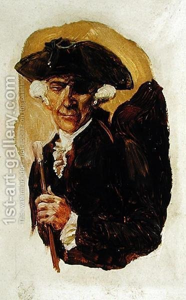 The Little Gentleman with One Eye, from The Ruby of Kishmoor by Howard Pyle, published in Harpers Monthly Magazine, August 1907 by Howard Pyle - Reproduction Oil Painting